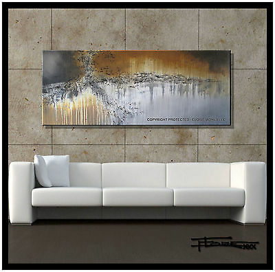 ABSTRACT PAINTING CANVAS WALL ART Large Signed USA     ELOISExxx