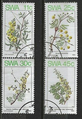 SOUTH WEST AFRICA 1984 Sc#532-5 SPRING FLOWERING TREES COMPLETE USED SET 0109