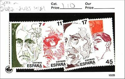Spain Stamps Lot Scott 2482-2485 MNH Low Combined Shipping