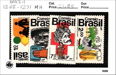 Brazil stamp lot Scott 1268-1271 MH Low Combined Shipping