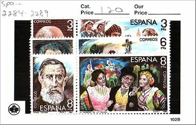 Spain Stamps Lot Scott 2284-2289 MNH Low Combined Shipping