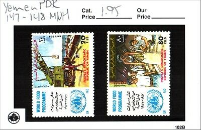 Yemen PDR Stamp Lot Scott 147-148 MNH Low Combined Shipping