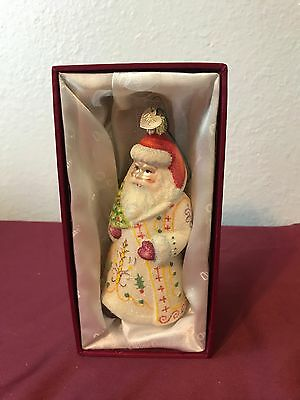 Old World Christmas~Merck Family~Glass Ornament~Glistening Jolly Santa