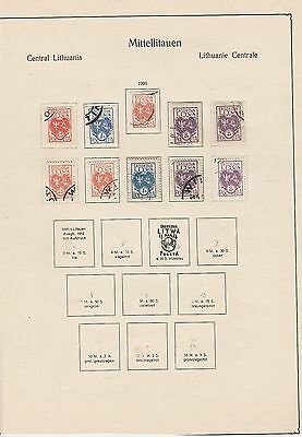 Middle Lithuania 1920-1922 Collection on pages (without 4-13) mostly Used