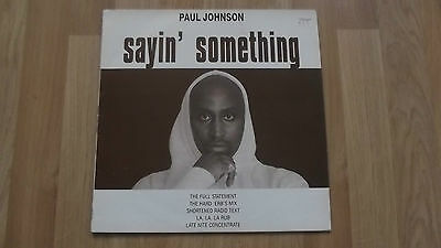 "Paul Johnson. Sayin' Something. Original Vinyl 12"". Pic Sleeve. 1994."