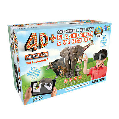 4D+ Utopia 360° Animal Zoo Augmented Reality Cards & VR Headset from Retrak