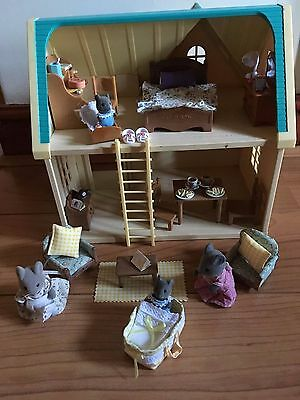 Sylvanian Families Applewood Cottage Ladder Lots accessories  working Light food