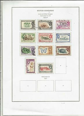 British Honduras 1953-1957 . Definitives.