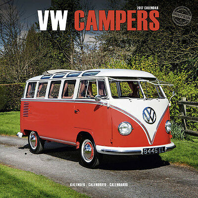 "VW Campers 2017 Wall Calendar by Turner/Lang/Avonside (12"" x 24"" when opened)"