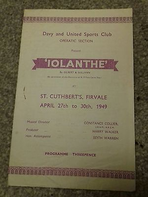 Davy and United Iolanthe programme 1949