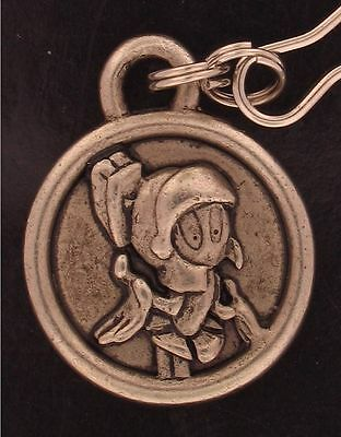 MARVIN the MARTIAN Zipper Pull MEDALLION CHARM WARNER BROS LOONEY TUNES WB 7523