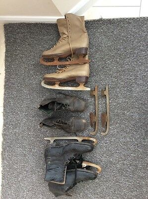 vintage retro ice skating boots bundle