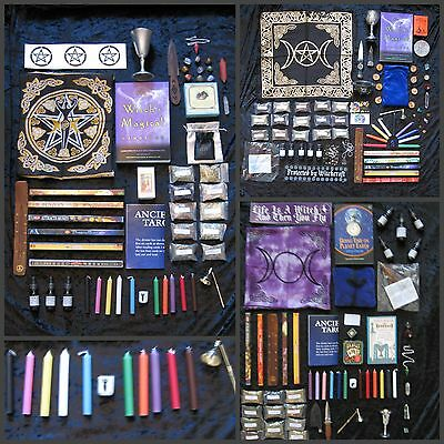 Brand New Wicca Pagan Witches MASSIVE Stock Up Kit! Candles Herbs Incense Stones