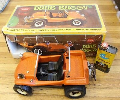 Cox Dune Buggy Remote Control Gas Powered .049 Engine Powered Tether Car Orange