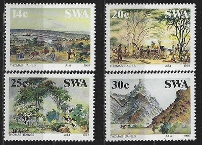 SOUTH WEST AFRICA 1987 Sc#578-81 THOMAS BAINES PAINTINGS MNH COMPLETE SET 0457