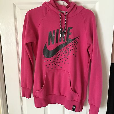 Women's Pink Nike Work Out Hoodie Size 12