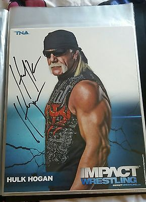 Hulk Hogan Signed 8x10 WWE TNA WCW