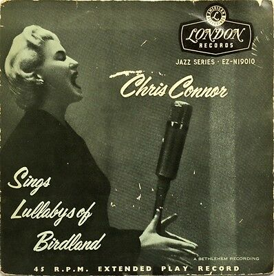 CHRIS CONNOR Sings Lullabys of Birdland ORIG 1954 UK LONDON Tri Centre Vinyl EP