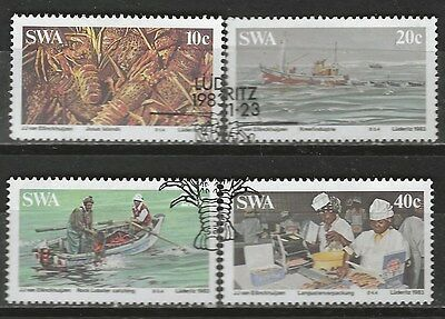 SOUTH WEST AFRICA 1983 Sc#516-9 LOBSTER INDUSTRY COMPLETE USED SET 0633