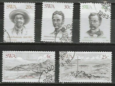 SOUTH WEST AFRICA 1983 Sc#503-7 CITY OF LUDERITZ COMPLETE USED SET 0579