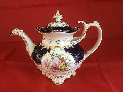 Antique Coalport Ducks Spout Tea Pot Pattern 2 /967 English Porcelain John Rose