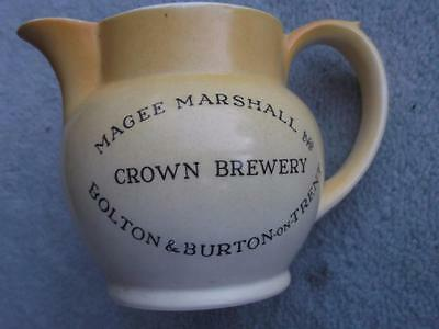 "Magee Marshall Crown Brewery Bolton & Burton 3 1/2"" Small Water Jug"