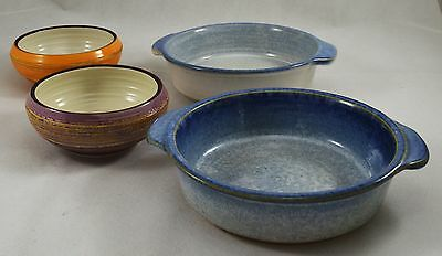 Job lot of 1970s Swedish Studio Pottery Bowls Skottorp Hantverk Stengods, Signed