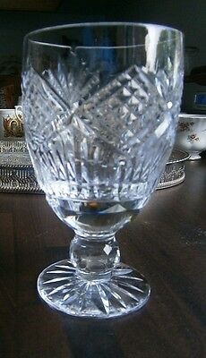 Vintage Tyrone Crystal Water/Gin Glass  Slieve Donard pattern vgc Etched on base