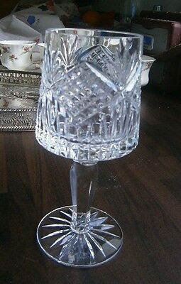 Vintage Tyrone crystal Wine Glass in Slieve Donard Pattern vgc  Etched on base