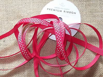 """2.5 YDS Grosgrain Ribbon 3/8"""" wide - Quality Ribbon by American Crafts- Red"""