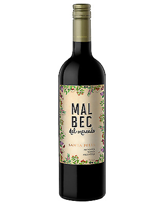 Santa Julia Del Mercado Malbec bottle Dry Red Wine 750mL Uco Valley