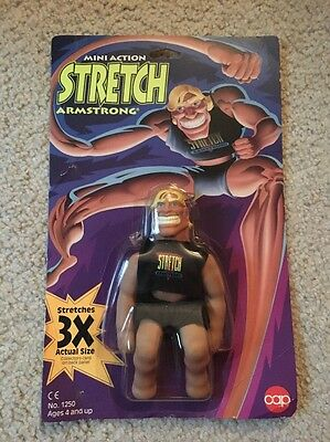 Rare 1993 Stretch Armstrong Vintage Toy Figure Mint On Card