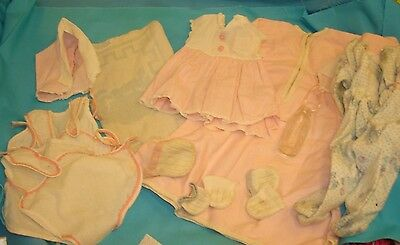Group of American Character Tiny Tears Baby Doll Clothing & Accessories Vintage