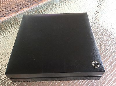 Montblanc box with warranty booklet holds one or two pens