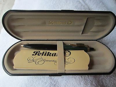 vintage PELIKAN K400 BALLPOINT PEN green black west germany w/case ag