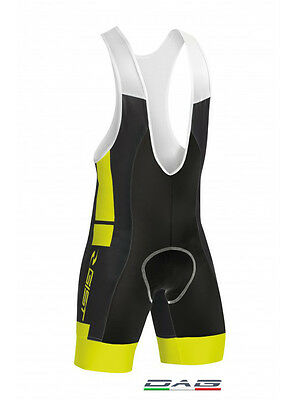 Gist Salopette Ciclismo Street Fit Giallo Fluo