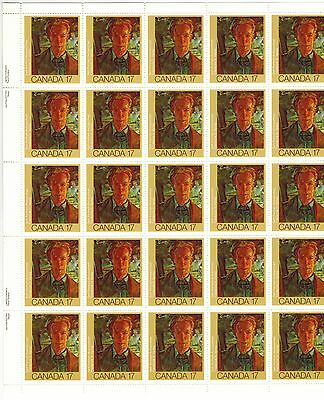Canada Stamps Scott# 888 Inscription Sheet or Pane of 25 MNH Varley