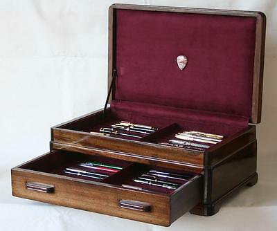 Fountain Pen Chest, #560, Vintage, Hand-Crafted, Holds 44 Pens, Solid Wood, Usa