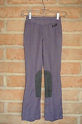 Kerrits Purple Boot-Cut Pull-On Riding Breeches w/ Knee Patch ~ Girls Med 8 - 10