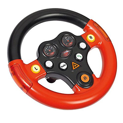 Big Bobby Car 800056459 Multi Sound Wheel Verkehrssounds Lenkrad Schwarz/Rot