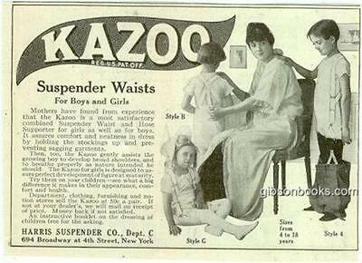 Kazoo Suspender Waists for Boys and Girls 1916 LHJ Magazine Advertisement