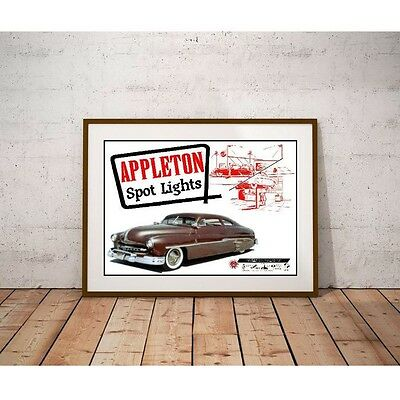 Appleton Spot Lights Poster - Barris Kustom 1950's Custom Car Accessories