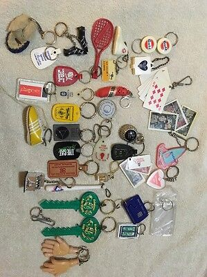 Vintage Keychain Lot Old Gulf Hotdog Hong Kong Hand Bendable Advertising Vegas