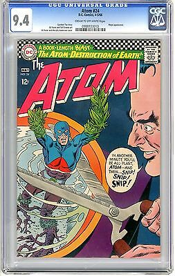 The Atom  #24  CGC  9.4  NM  cream to off -  white pages