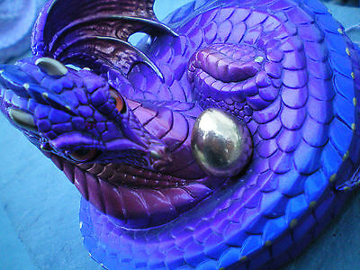 Windstone Editions RETIRED Amethyst Mother Coiled Dragon NEW IN BOX Melody Pena