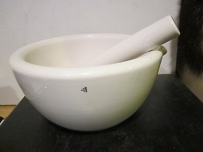 OLD VINTAGE COORS USA MORTAR AND PESTLE 8 1/2 OUTSIDE DIAMETER Apothecary Pharma