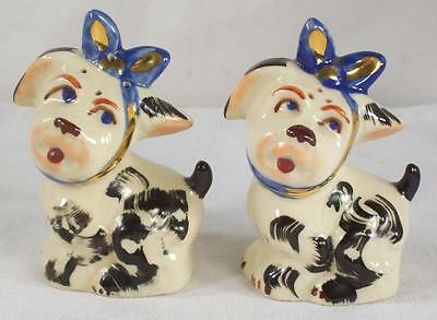 Vintage Shawnee Toothache Muggsy the Dog Salt and Pepper Shakers