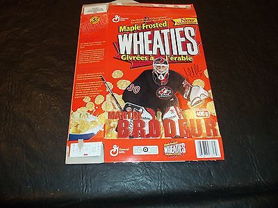 Maple Frosted Wheaties box Martin Brodeur Team Canada