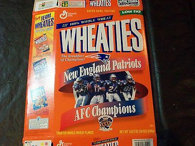 1997 AFCChampions New England Patriots wheaties box