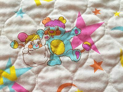 Vintage Popples Quilt Blanket Bedspread Large Twin Puffball PC Original 80s